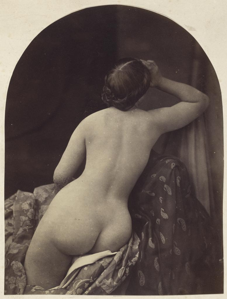 Ariadne, 1857, Oscar Rejlander, albumen print from a wet collodion negative. National Gallery of Art, Washington, D.C. Paul Mellon Fund (2007.29.38)