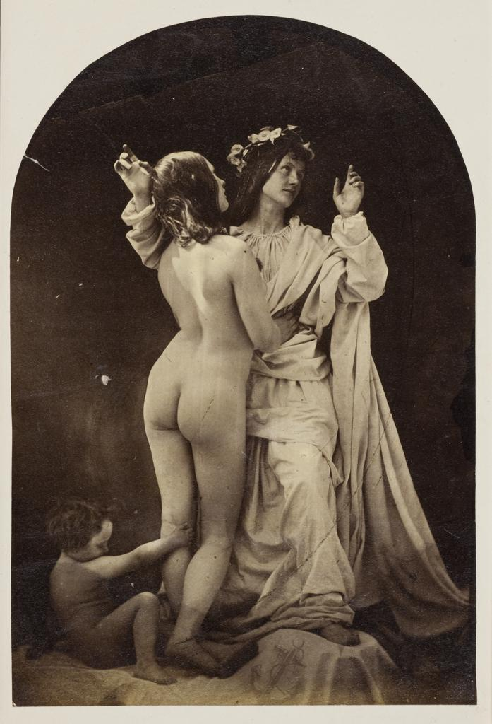 Allegorical Study (Sacred and Profane Love), about 1860, Oscar Rejlander, albumen silver print. Wilson Centre for Photography, London