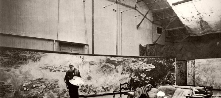 Vintage: Claude Monet in His Studio at Giverny