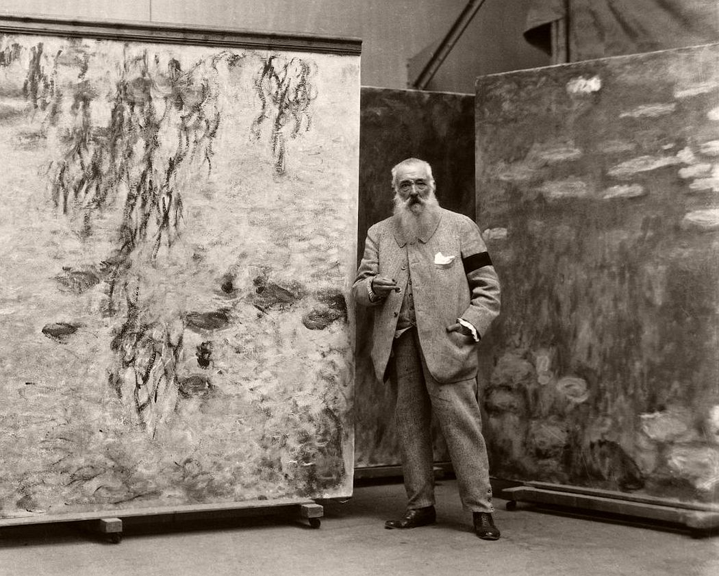 Claude Monet in His Studio at Giverny