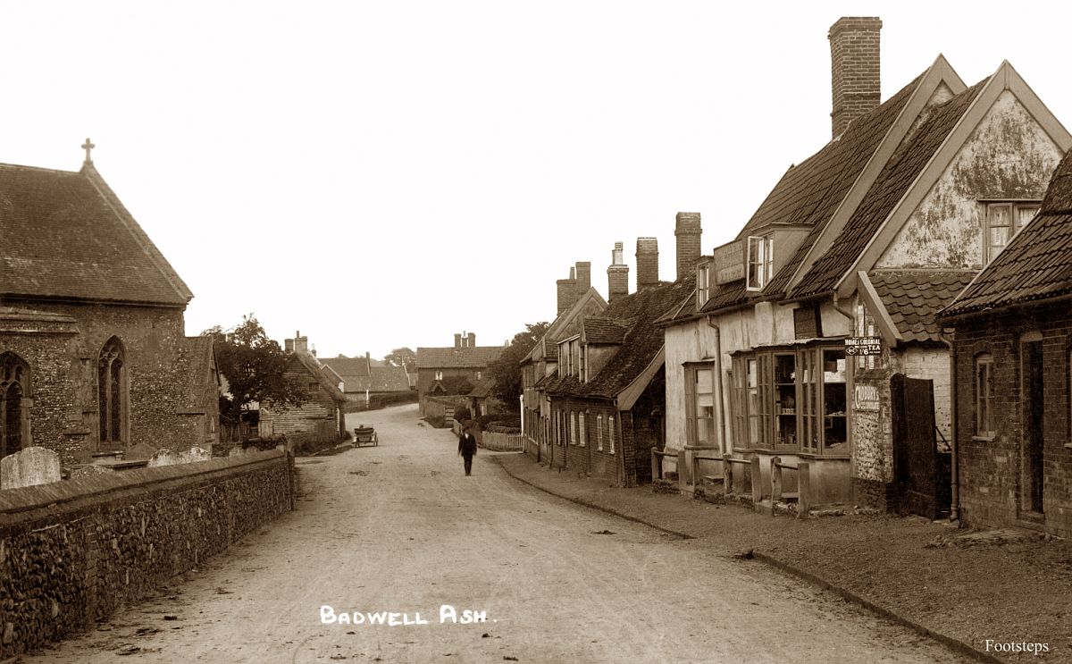 Badwell Ash, Suffolk  Date: about 1920