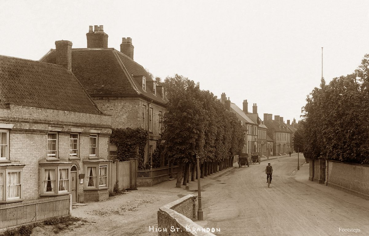High Street, Brandon, Suffolk  Date: about 1910 to 1920