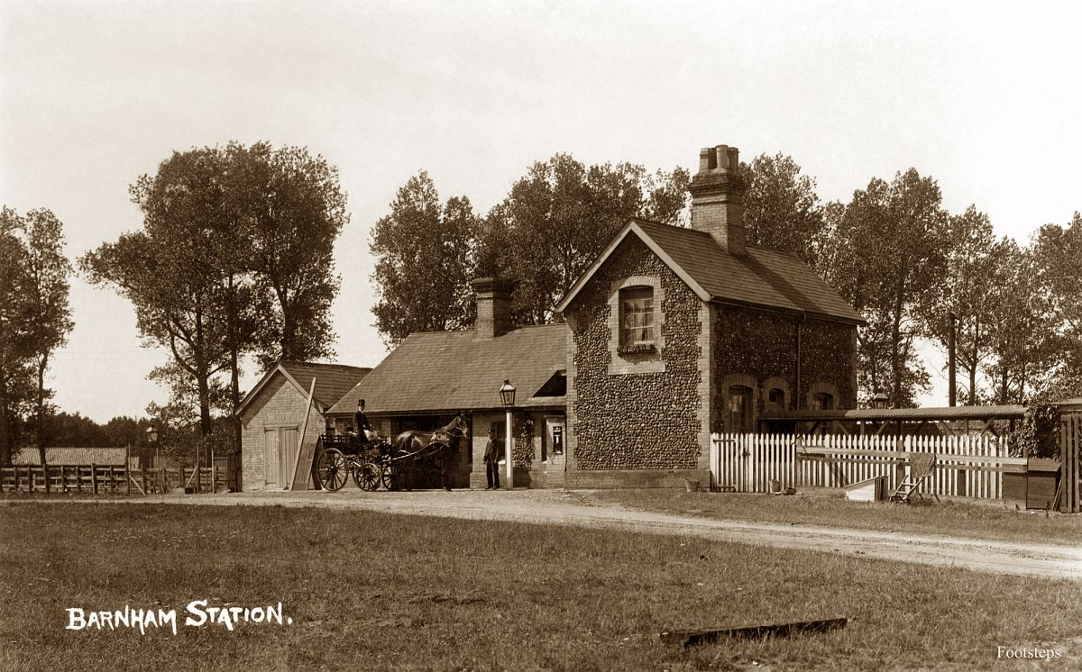 Barnham railway station, Suffolk  Date: about 1910