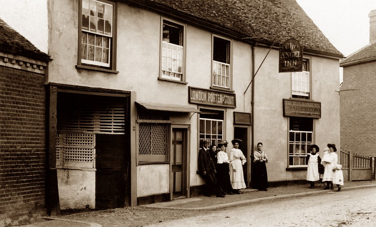 The Angel Inn, Bures St Mary, Suffolk  Date: about 1900 to 1910