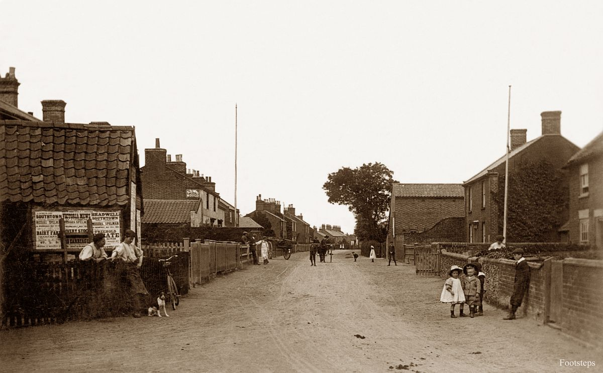 Blundeston village, Suffolk  Date: about 1910