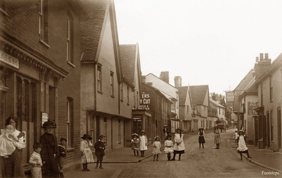 High Street, Bures, Suffolk  Date: about 1900 to 1910