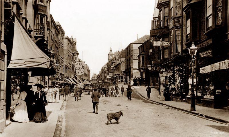 High Street, Ilfracombe, Devon, circa 1905