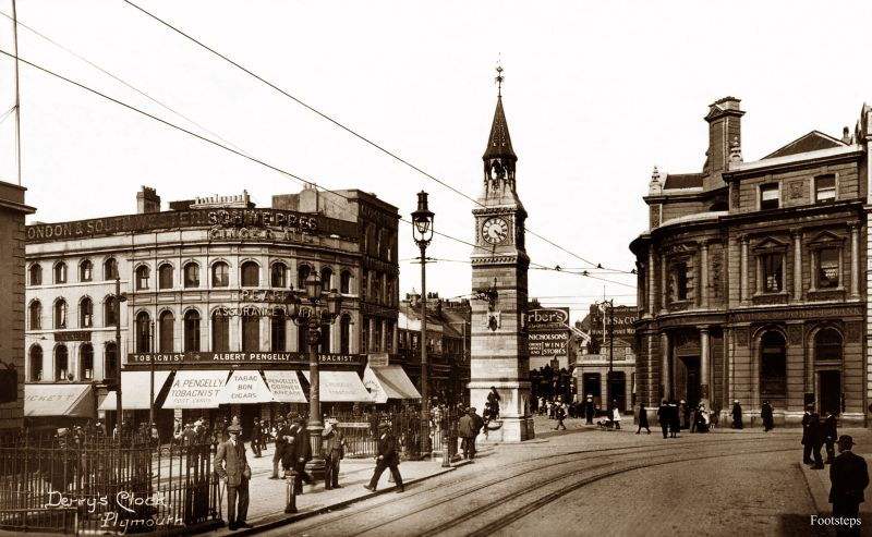 Derry's Clock, Plymouth, Devon, circa 1910s