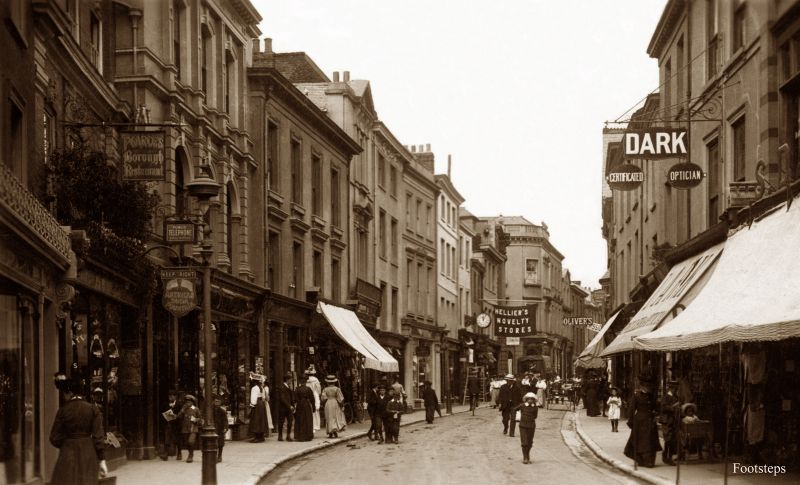 High Street, Barnstaple, Devon, circa 1900-1910