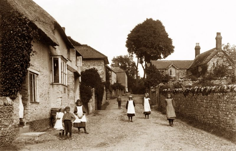 Stockland village, Devon, circa 1900