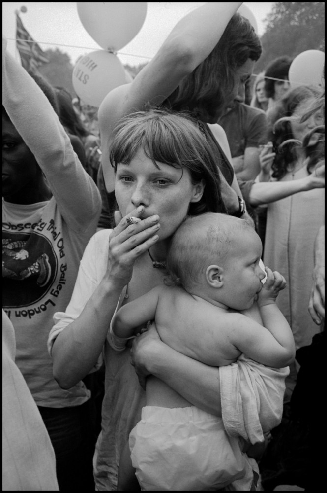 Leonard Freed Festival at Hyde Park. London. England, UK. 1971. © Leonard Freed | Magnum Photos