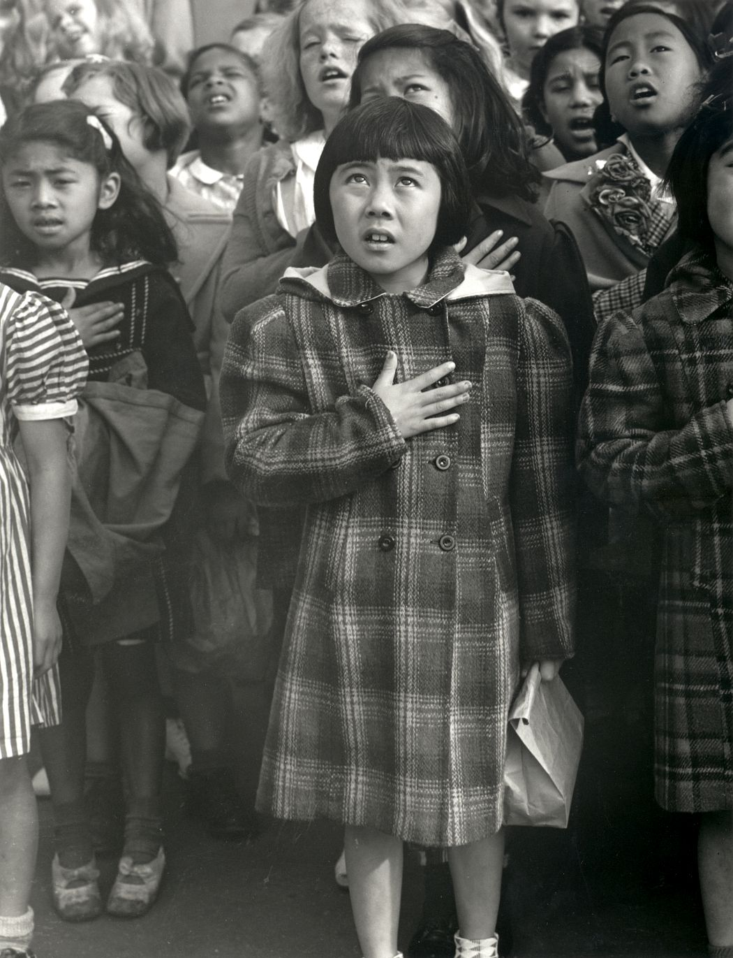 Dorothea Lange. One Nation Indivisible, San Francisco, 1942. Gelatin silver print. © The Dorothea Lange Collection, the Oakland Museum of California, gift of Paul S. Taylor