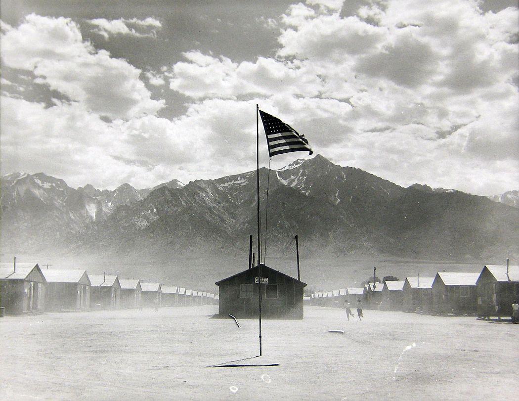 Dorothea Lange. Manzanar Relocation Center, Manzanar, California, 1942. Gelatin silver print. Collection of the Oakland Museum of California, gift of Paul S. Taylor
