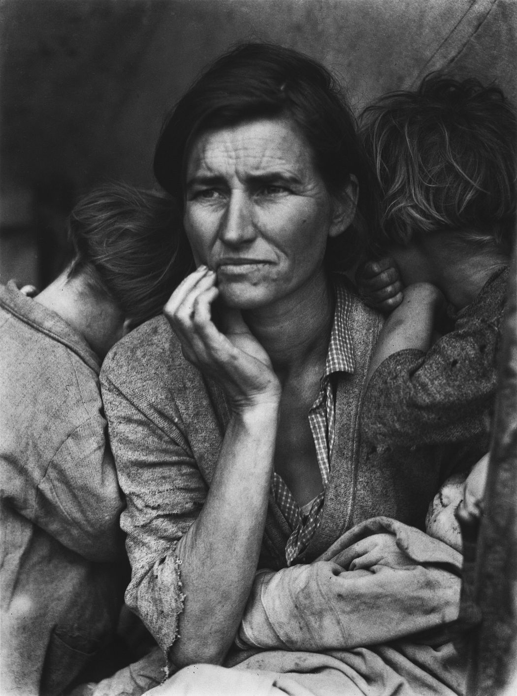 Dorothea Lange. Migrant Mother, Nipomo, California, 1936. Gelatin silver print. The Dorothea Lange Collection, the Oakland Museum of California, gift of Paul S. Taylor