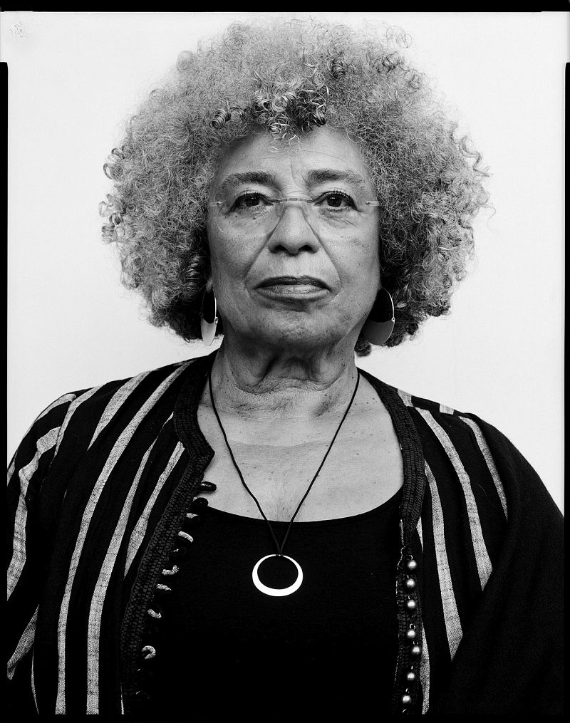 Angela Davis, civil rights movement activist, philospher, 24.6.2018 80 x 60 cm Baryt warmton © Oliver Abraham