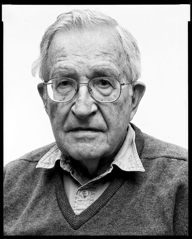Noam Chomsky, linguist, 8.6.2011 80 x 60 cm Baryt warmton © Oliver Abraham
