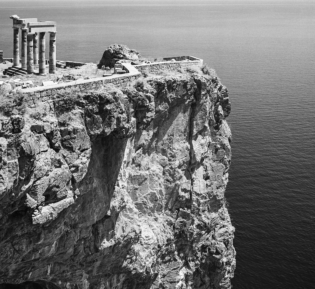 """Lindos. Photograph by Robert McCabe on show in the exhibition """"Chronography-An Exhibition for the 180th anniversary (1837-2017) of the Archaeological Society""""."""