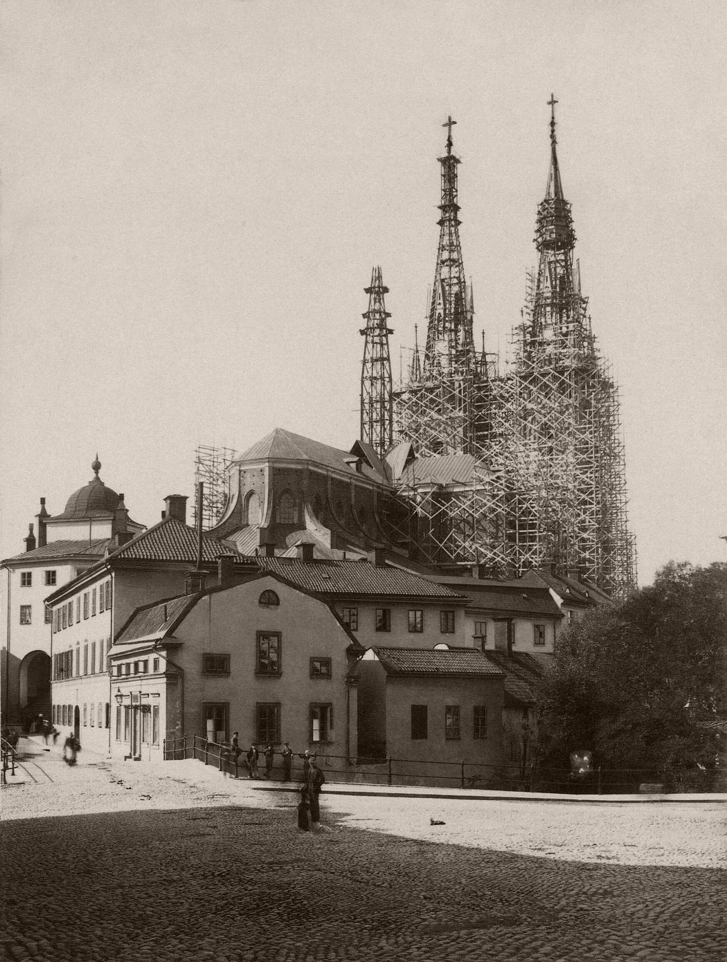 Photograph of Uppsala Cathedral, 1889