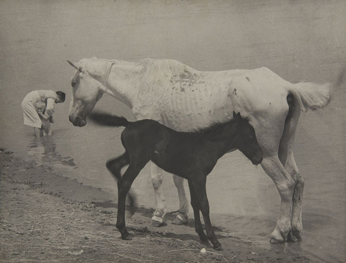Boris Ignatovich (1899-1976)  Motherhood, 1938  Vintage gelatin silver print mounted on board