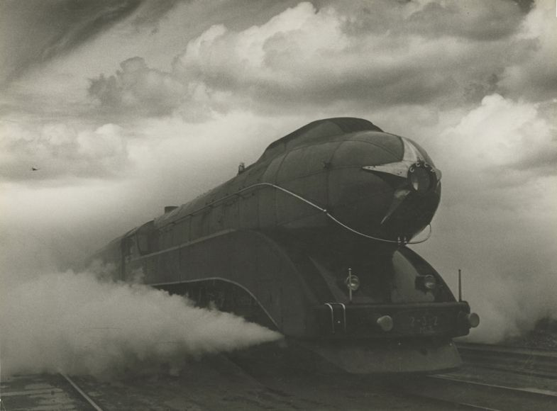 Arkady Shaikhet (1898-1959)  Express, 1939  Vintage gelatin silver print  15 11/16 x 21 1/4 in. (39.8 x 53.9 cm)  Title and date in Russian in pencil on verso  Photographer's stamp and signature on verso