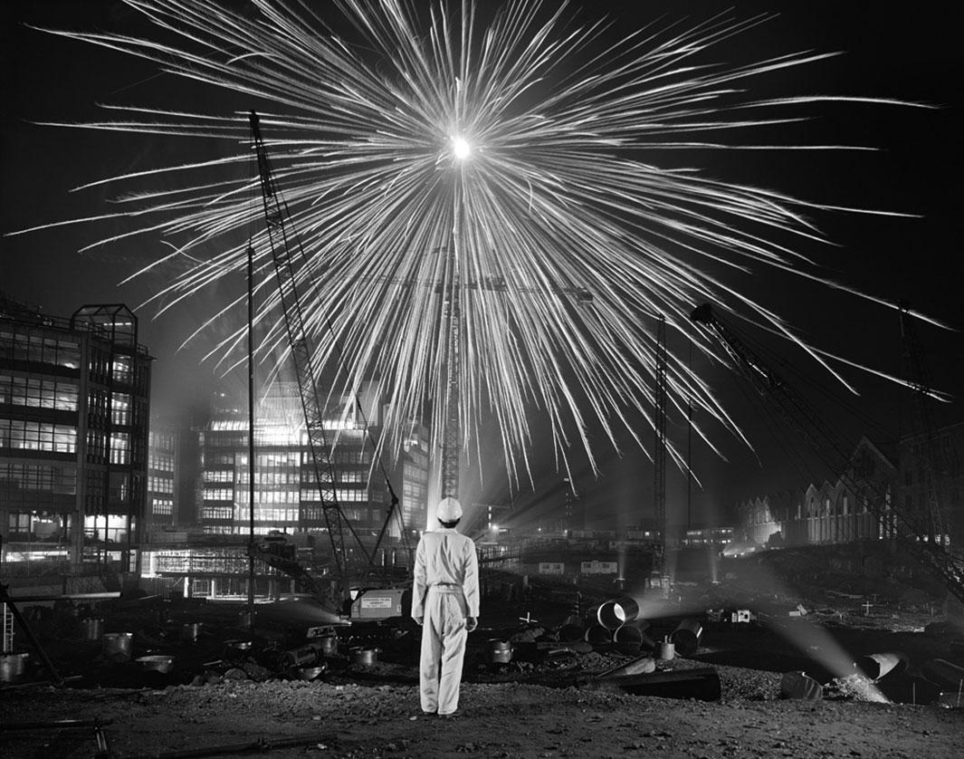 Brian Griffin Big Bang, Broadgate, City of London, 1986