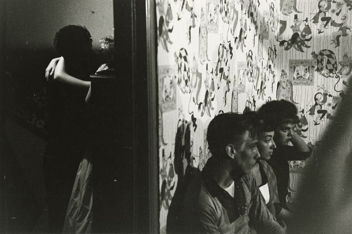 Brooklyn Gang, 1959   Early gelatin silver print  8 1/2 x 12 3/4 inches