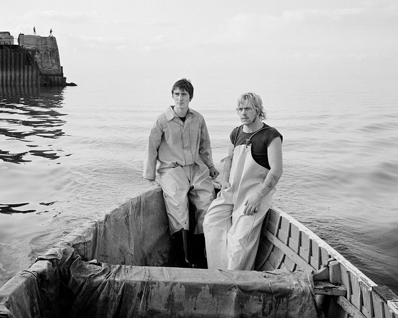 Blackie and Mato Smith at sea  Gelatin silver print 20 x 24 inches 1982