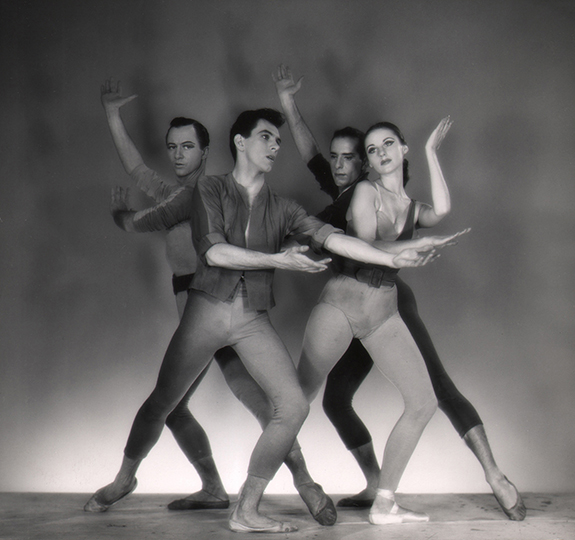 George Platt Lynes, Age of Anxiety: Todd Bolender, Roy Tobias, Jerome Robbins, Tanaquil Leclercq, 1950