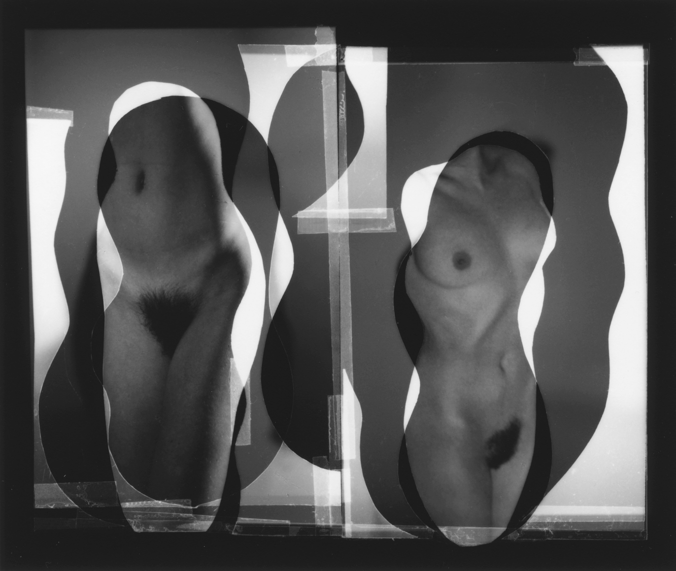Nude Composition#08 1996 gelatin silver print 4 x 4 3/4 inches