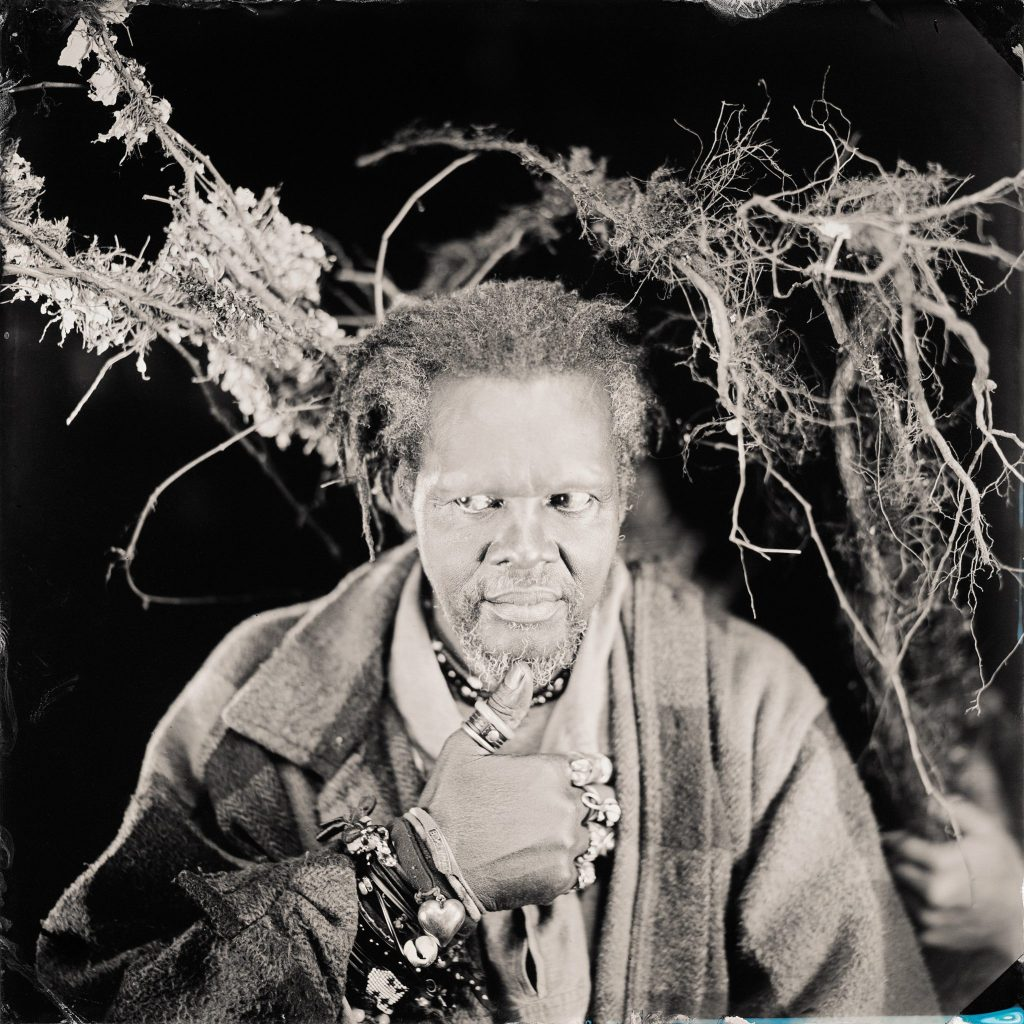 Lonnie Holley, White Man Stealing My Roots, Hillsboro, NC, 2017  2017  Timothy Duffy (American, b. 1969)  Tintype