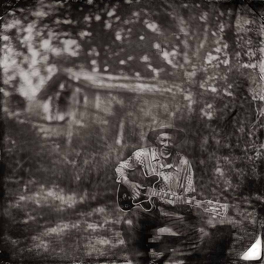 Robert Finley at Home, Blue Muse, Bernice, LA Pigment Print Print Date: 2018