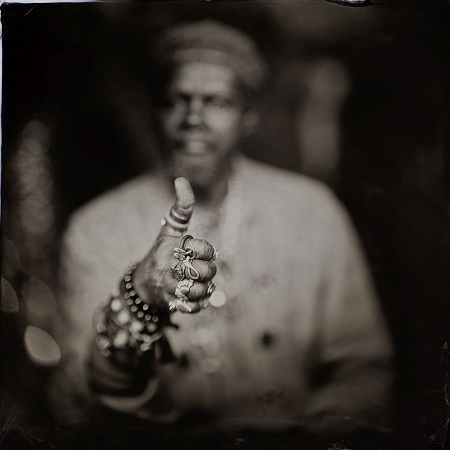 Lonnie Holley, Thumbs Up for Mother Universe, Hillsborough, NC Pigment Print Print Date: 2019