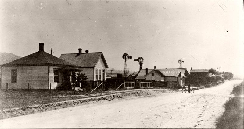 Plum Avenue in Sedalia, Colorado, looking southeast, 1890