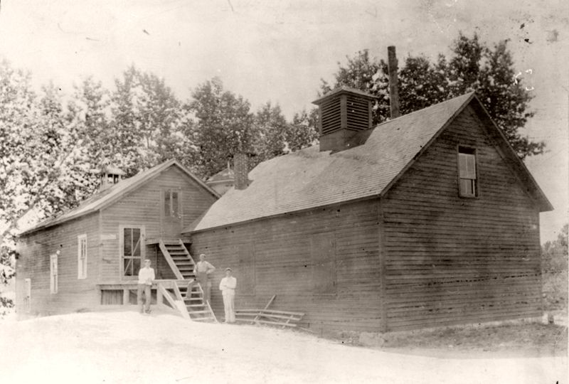 Sedalia creamery which stood 'south of the railroad tracks, near East Plum Creek on land purchased from Lizzie Beeman', 1895