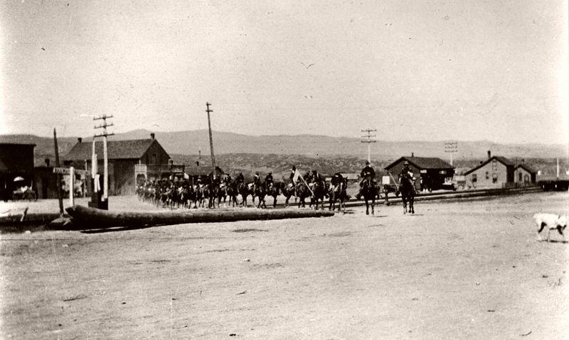 United States Cavalry leaving Sedalia, Colorado, July 9, 1985