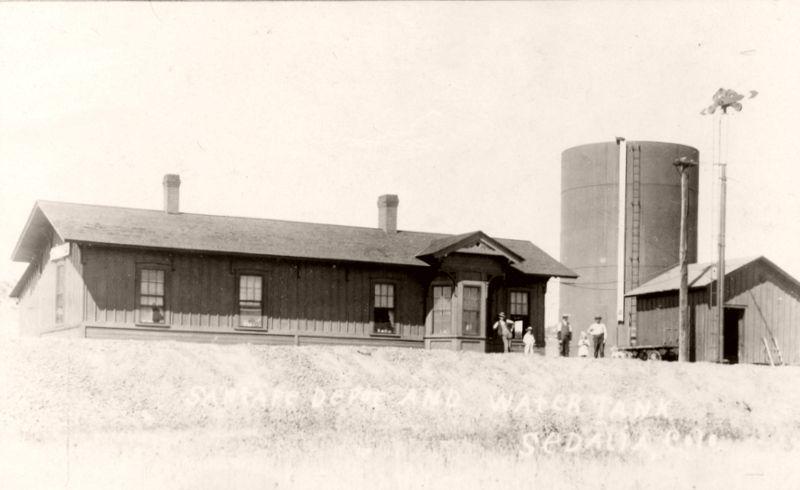 Atchison, Topeka, and Santa Fe Railroad area north of Sedalia, Colorado looking north, 1897