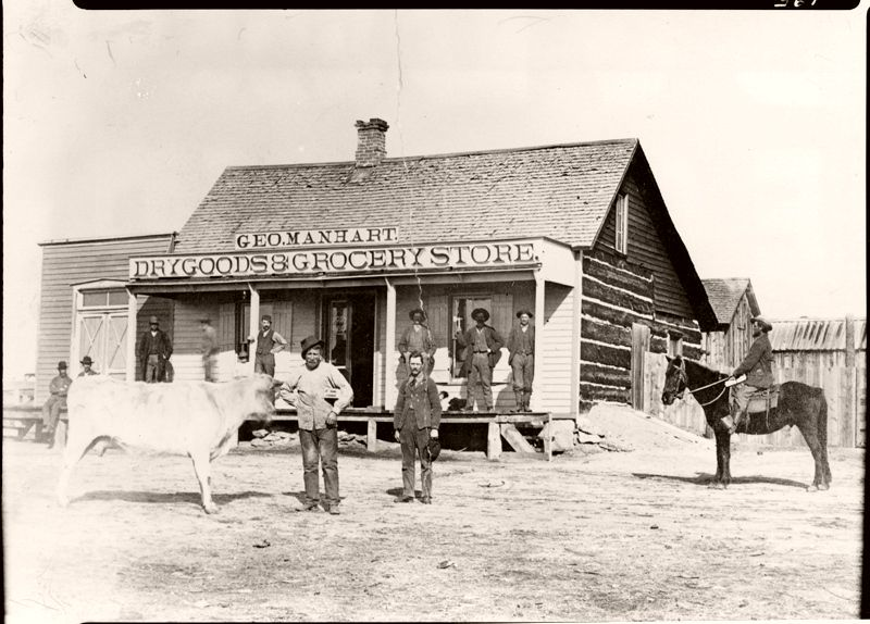 Manhart Store and Sedalia Post Office, Plum Avenue, Sedalia, Colorado, 1885