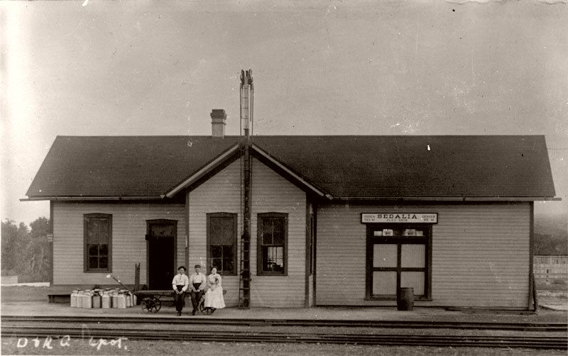 Denver and Rio Grande Railroad Depot, Sedalia, Colorado, 1890