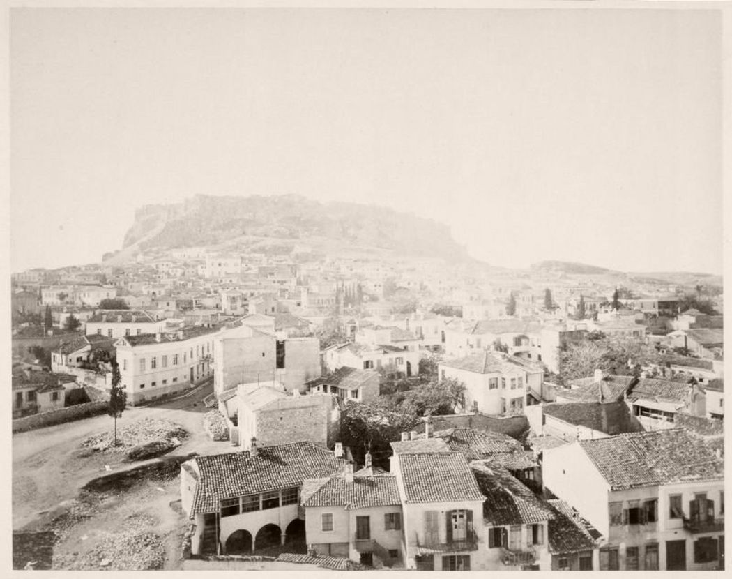 Plaka from Acropolis, Greece, 1868