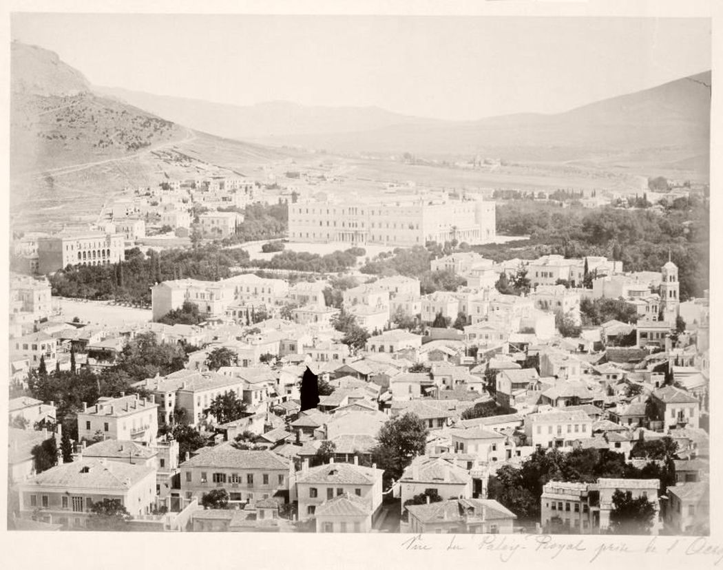 Royal Palace from Acropolis, Greece, circa 1870-90