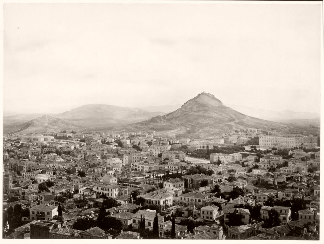 Athens from Acropolis, Greece, circa 1860