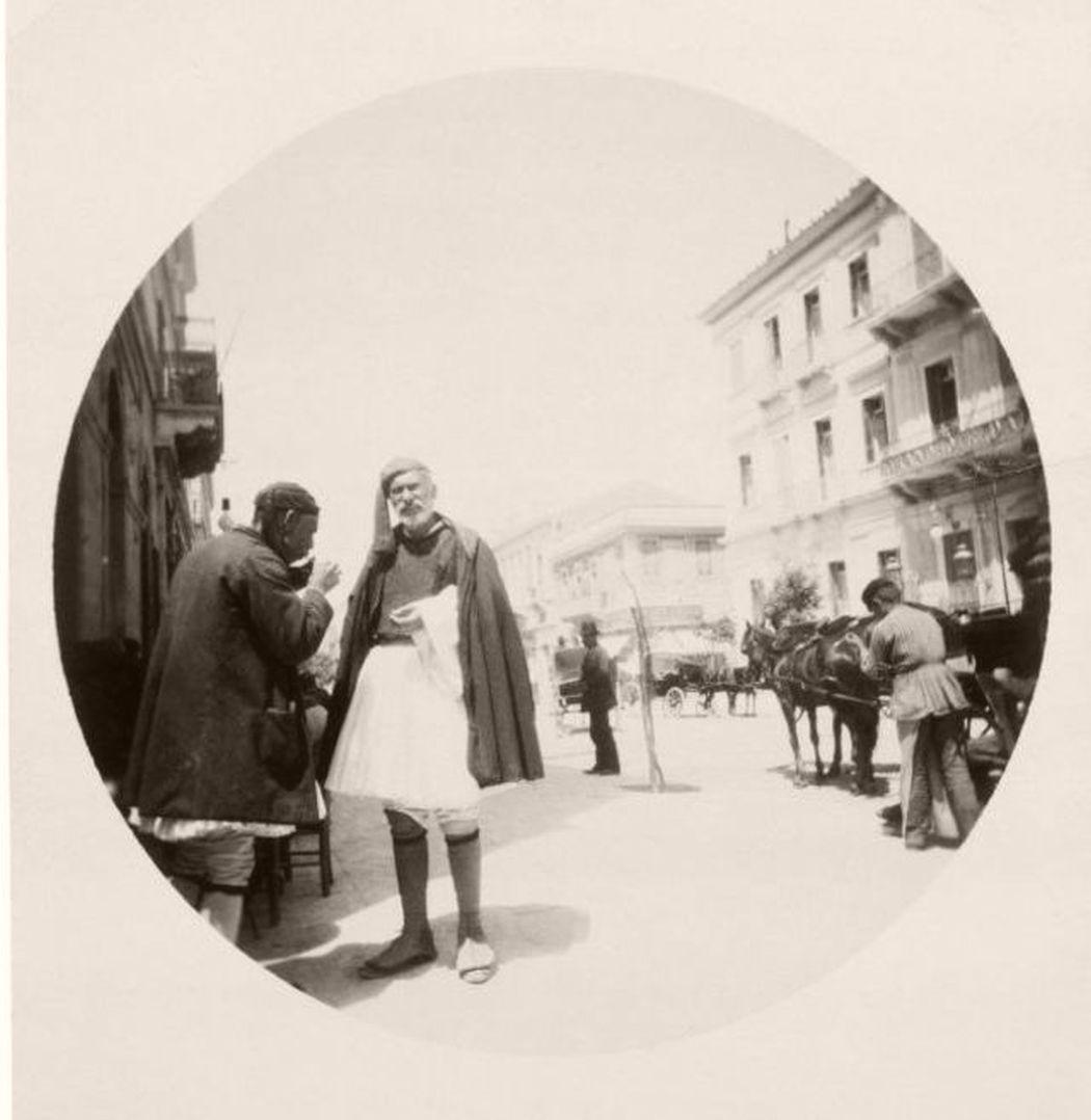 Athens street scenes, Greece, 1890
