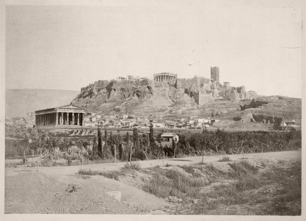 Hephaisteion, Acropolis, Greece, circa 1860