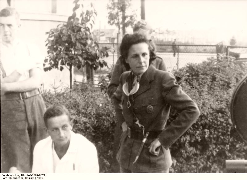 Riefenstahl as a war correspondent in Poland, 1939