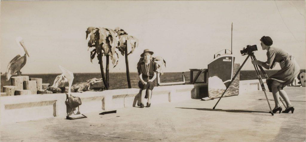 Florida Boardwalk Photographer  1944  Walker Evans  Gelatin silver print