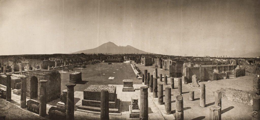 Panorama of Pompeii  c. 1868  Adolphe Braun  Carbon print