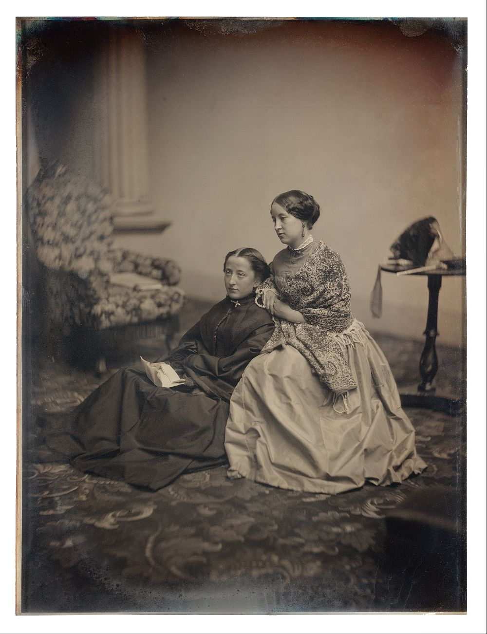 Albert Sands Southworth and Josiah Johnson Hawes - The Letter, circa 1850, Medium Daguerreotype