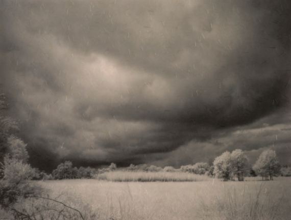 Diane Levell (b.1946), Summer Storm, 2017, archival print on Kinwashi paper. 14 ¼ x 18 3/4 inches. Courtesy of the artist.