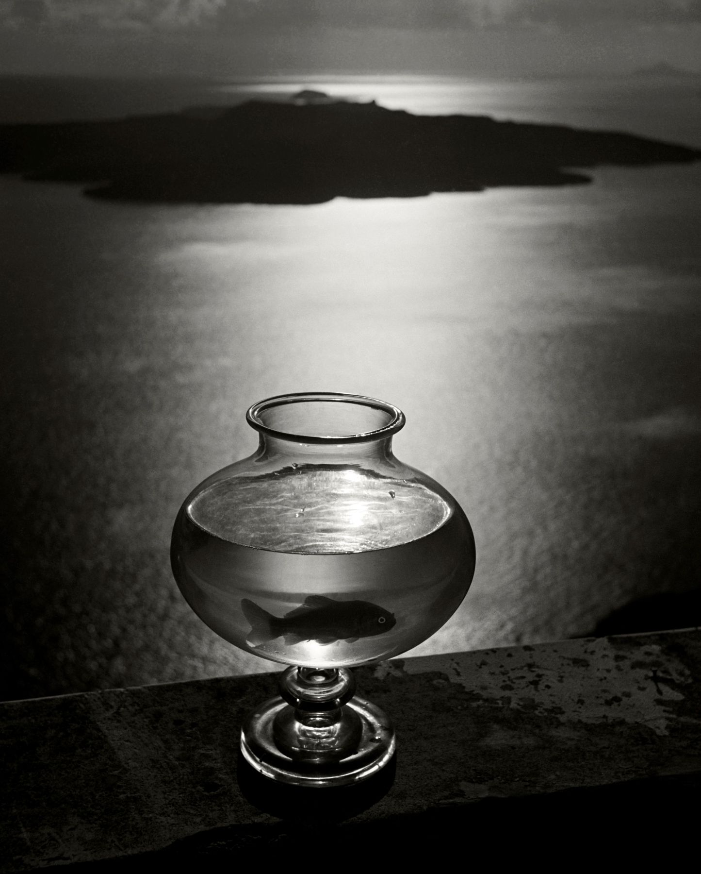 Herbert List Goldfish Bowl, Santorini, Greece, 1937    Digital Silver Gelatin Photograph, Ed. 4/15 23 1/4 x 19 1/8 in. Estate stamped, Signed by Estate Executor, titled, dated, numbered verso