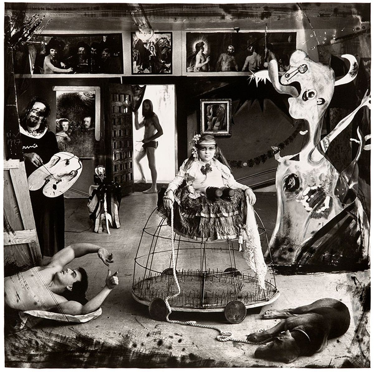 "Joel-Peter Witkin, Las Meninas, New Mexico, 1987  From the Photographic Works series  16 x 20"", 30 x 40"" gelatin silver print Edition of 15 + 3 AP's, 3 + 3 AP's"